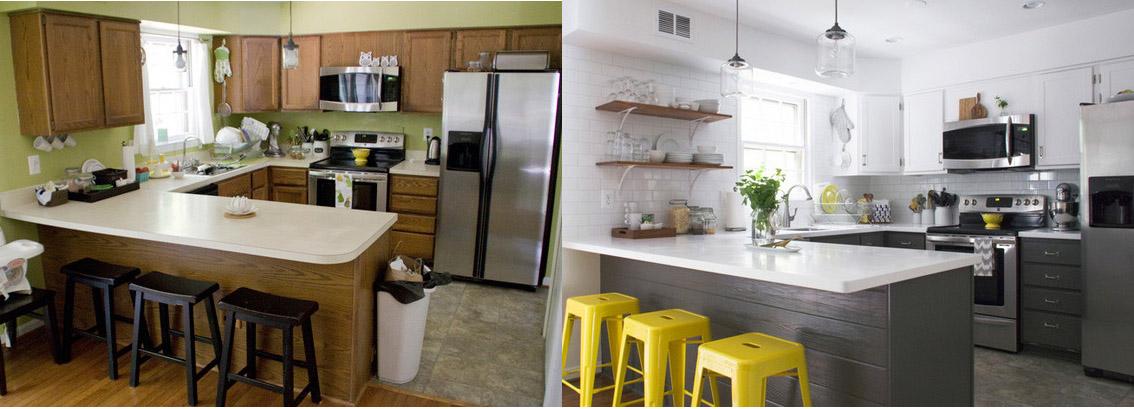 Antes y después: estrena tu cocina sin tener que cambiar tus muebles ...