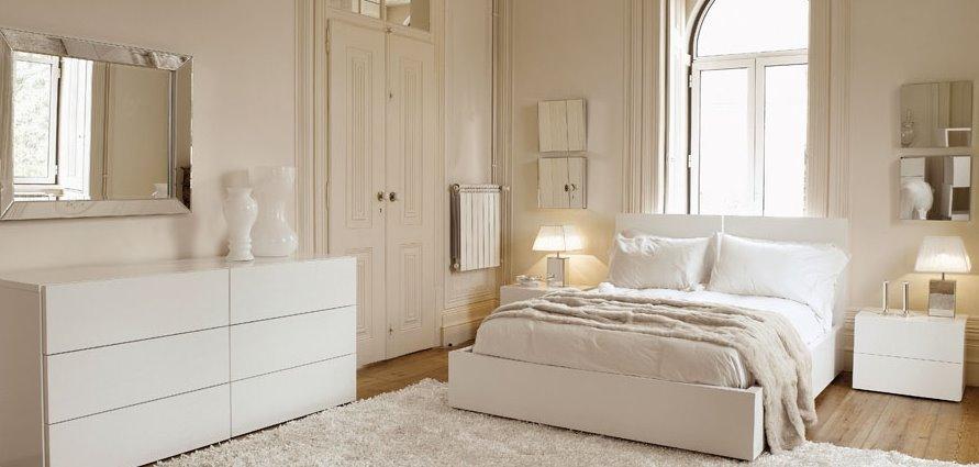 De qu color pinto mi recamara habitaciones en blanco for Recamaras estilo contemporaneo