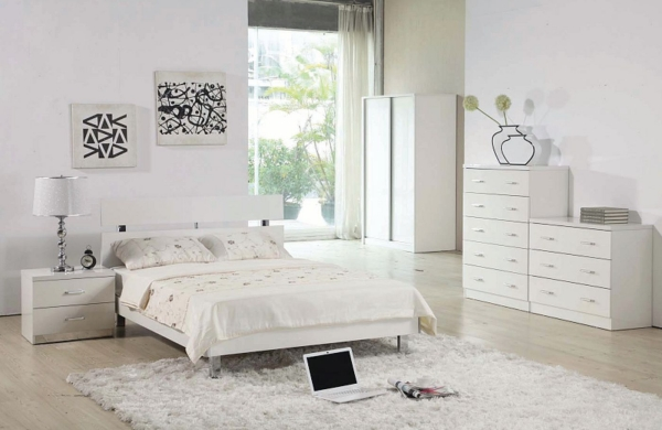 De qu color pinto mi recamara habitaciones en blanco for Mobilya camere da letto