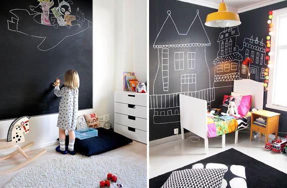 Expresa tu creatividad pintura pizarr n blog citypaint - Pintura infantil pared ...