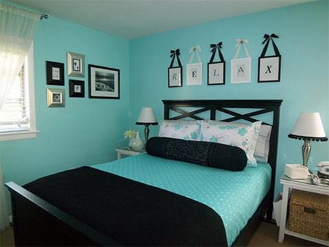 De qu color pinto mi recamara habitaciones en azul blog citypaint blog citypaint Black and turquoise living room