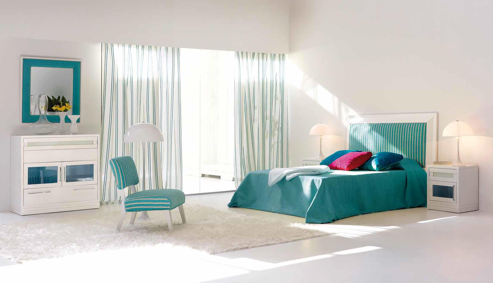 De qu color pinto mi recamara habitaciones en azul for Cuartos decorados azul