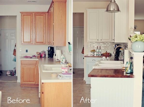 Antes y despu s cocina totalmente renovada con pintura - Pintar azulejos cocina antes y despues ...