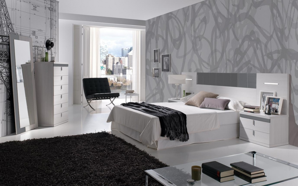 De qu color pinto mi recamara habitaciones en gris for Muebles de habitacion en blanco