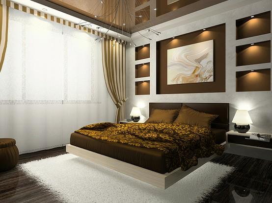De qu color pinto mi recamara habitaciones en marr n - Cortinas marron chocolate ...